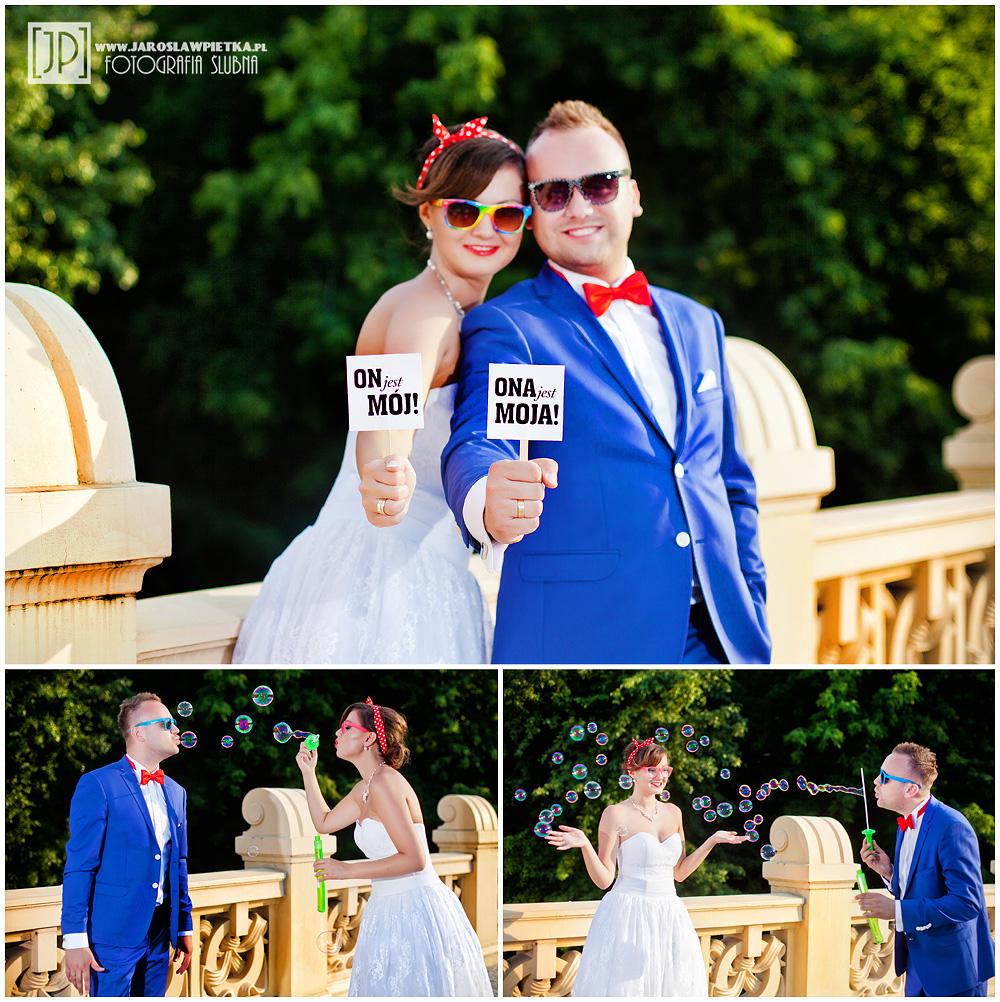 sesja ślubna w stylu pin up