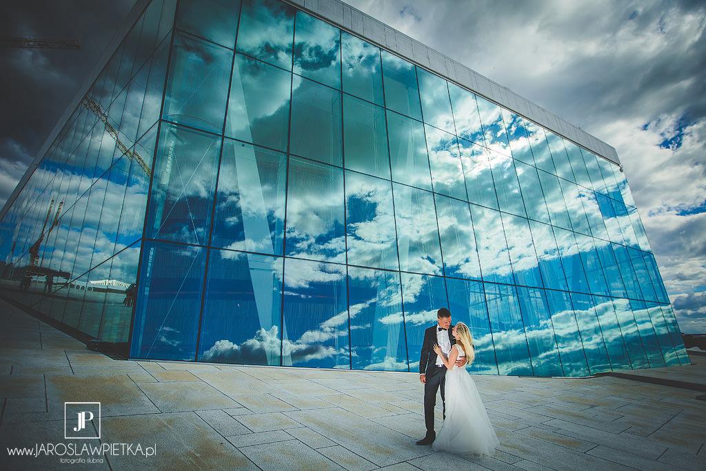 Sesja ślubna w Norwegii, Oslo Opera