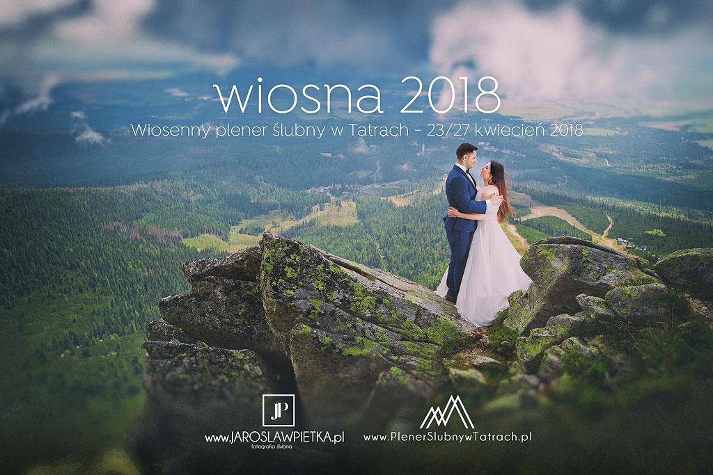 Wiosenny plener ślubny w górach