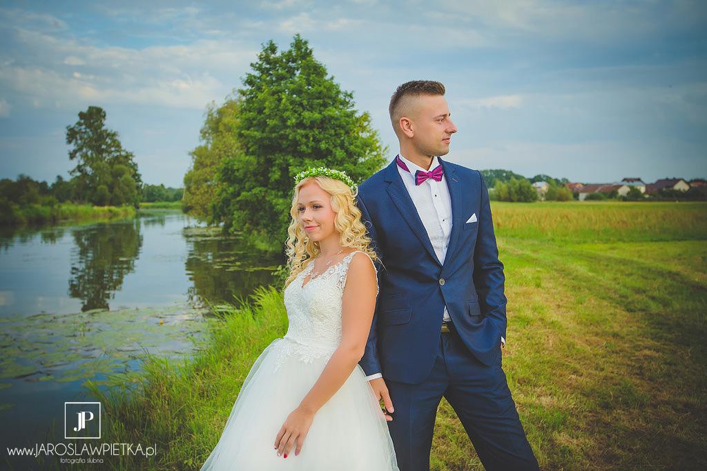 Plener ślubny o zachodzie słońca